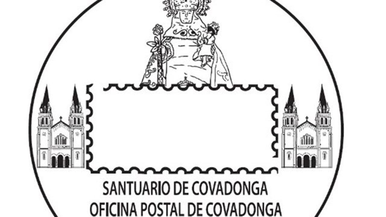 La santina protagonista del nuevo matasellos de correos for Oficina de correos gijon