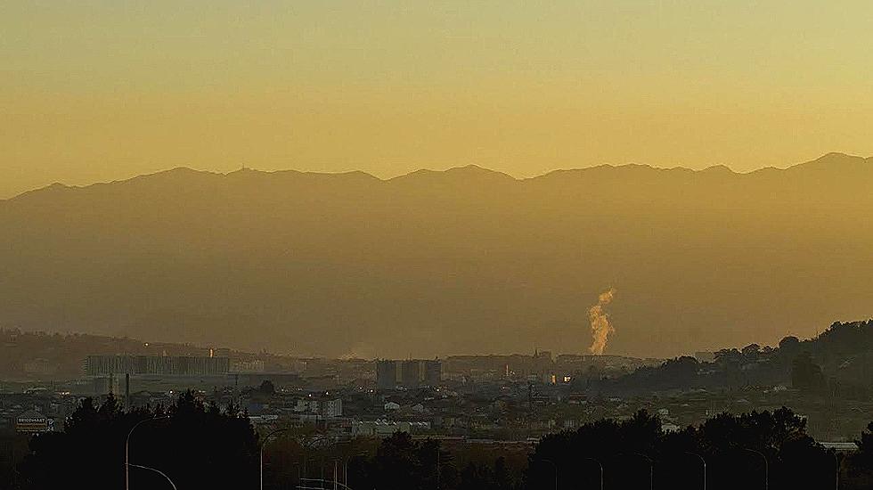 Vista de la contaminación en Oviedo