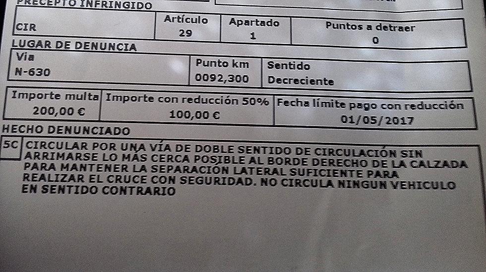 Denuncia a un camionero en Asturias